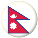 Nepal Country Flag 58mm Mirror Keyring